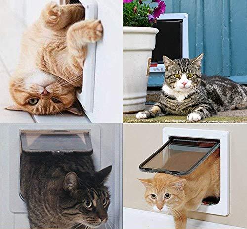 Puerta para Mascotas para Gatos y Perros peque/ños Puerta para Gatos con t/únel Puerta para Gato con Cierre magn/ético de 4 v/ías