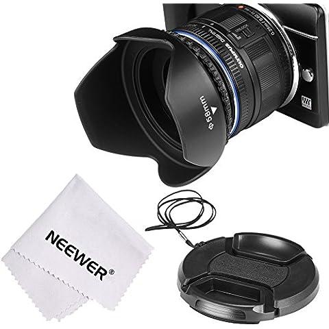 Neewer Gegenlichtblende Set per SONY A6000 e NEX telecamere della serie con 16-50 mm lente e Samsung NX300 con 20-50 mm lente - tulipano-fiori-Sonnenblende Gegenlichtblende + coperchio per obiettivo + Objektivadpter 40,5 - 58 mm