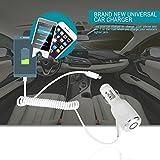 BoldGare (TM) High-impact Kunststoff Micro-USB-Kabel 2 in 1 Auto KFZ-Ladeger?t f¨¹r die meisten der HTC Smart Phones