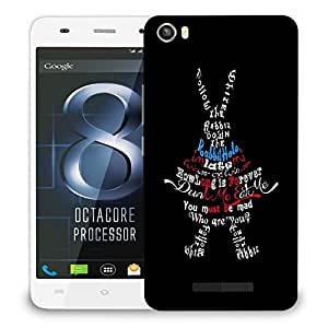 Snoogg Dunk Me Eat Me Designer Protective Back Case Cover For LAVA IRIS X8