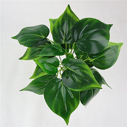 e Pflanzen Blumenstrauß Palme Bush Lebensechte Pflanzen Bäume Sträucher für Dekoration Tisch Schreibtisch Küche Restaurant Home Decor Indoor Landsacpe (Dschungel-themen-partei)