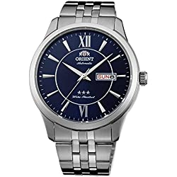 Orient Men's 43mm Steel Bracelet & Case Automatic Blue Dial Analog Watch FAB0B001D9