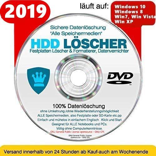 Festplatten Löscher & Formatiere, Datenvernichter, Sichere Datenlöschung