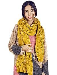 FINEJO Circle Cable Crochet Knit Men Women Scarf Shawl Wrap Winter Warm Cowl Neck