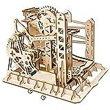 MZ Lasergeschnittenes Holzpuzzle | Bausatz Bausatz | 3D Puzzle Spiel (Wasserrad Coaster)