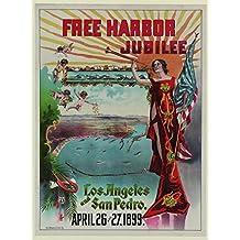 Free Harbor Jubilee, Los Angeles & San Pedro, 1899 - Foto-Reimpresión película Posters 24x32 pulgadas - sin marco