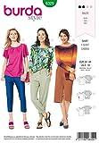 Burda Schnittmuster 6329, T-Shirt [Damen, Gr. 34-46] zum selber nähen, ideal für Anfänger [L2]