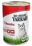 YARRAH Bio Katzenfutter Bröckchen Huhn und Rind 405g