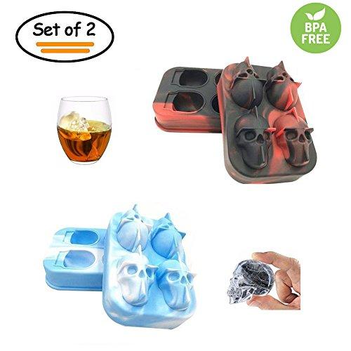 Bandejas para cubitos de hielo, 2 unidades, 3D, silicona...