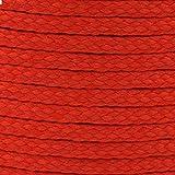 BIG-SAM - Polyesterschnur | 4mm Dicke | Verschiedene Farben | für Jacken, Hosen, Sportbeutel und Vieles Mehr (Rot)