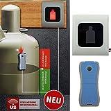 Gasflaschen Füllstandsanzeiger Gaslevel® GL3001 inkl. Fernanzeige für Propangasflaschen 5,11,33 Kg