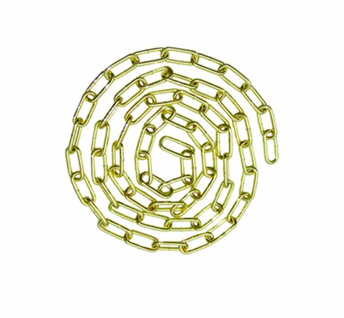 Viso CDGO252SB Chaîne acier dorée + Maillon + Mousqueton double