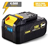 TECCPO 18V Batterie Rechargeable au Lithium-ion, 4.0Ah Batterie de Remplacement, pour tous les Outils Électriques sans Fil 18V de TECCPO - TDBP04P