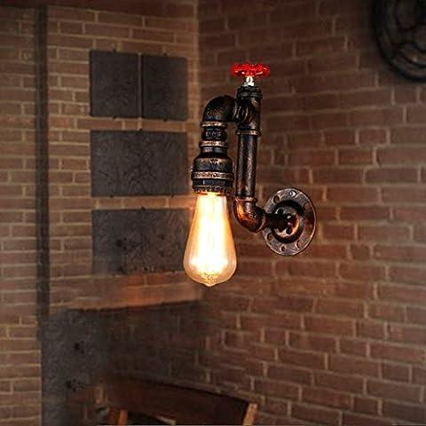 GUOQ Industrie Stil Steampunk Rohr Retro Eisen Wandlampe Persönlichkeit Kreative