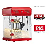 Rosenstein & Söhne Popcornmaschine: Profi-Retro-Popcorn-Maschine Cinema mit Edelstahl-Topf im 50er-Stil (Popcornmaschine Profi)