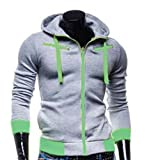 Tefamore Hommes Hoodie Manteau Hooded Jacket Outwear Pull Slim Tops