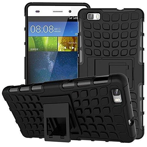 Cozyswan Cool Design Reifen Muster Handytasche Case Cover Hüllen Shockproof Outdoor Schutzhülle für Huawei P8 Lite - Schwarz