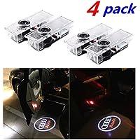 4 piezas de LED proyector puerta logotipo de la sombra de luz Lámparas de bienvenida de cortesía Luces Kit