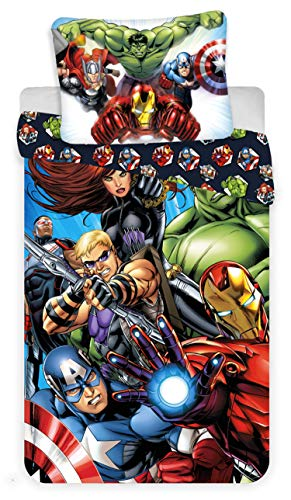 Marvel Avengers Hulk y Capitán América Juego de Funda nórdica 100% algodón