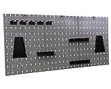 Werkzeugwand Lochwand mit 17 -tlg.Hakensortiment Werkstatt aus Metall - 9