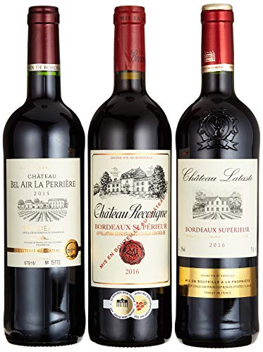 "Weinpräsent Geschenkset\""Weine aus Bordeaux\"" trocken (3 x 0.75 l)"
