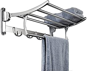 Planet Keepwell Classic High Grade Stainless Steel Folding Towel Rack (18 Inches)