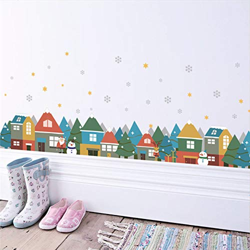 Weihnachten Schneeflocke Santa Schneemann Wandaufkleber Aufkleber Fenster Party Schlafzimmer Schlafzimmer Dekoration Neujahr Poster Wandbild (Party Store-santa Rosa)
