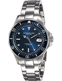 Stuhrling Original 664.02 - Reloj de de cuarzo, para para hombre, con correa de acero inoxidable, color plateado