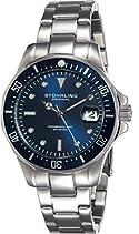 Stuhrling Original Herren-Armbanduhr Regatta Aquadiver 664 Analog Quarz 664.02