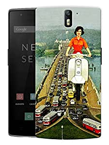 """Humor Gang Girl In The Sky TrippyPrinted Designer Mobile Back Cover For """"OnePlus One"""" (3D, Matte Finish, Premium Quality, Protective Snap On Slim Hard Phone Case, Multi Color)…"""