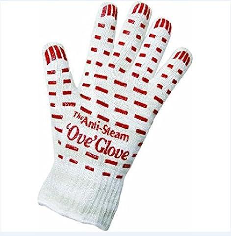 Lanlan Ofen Handschuh mit rutschfesten rot Silikon Griff für Kochen