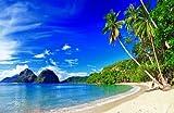Fototapete Südseestrand KT451 Größe: 400x280cm Palmen Ozean Meer