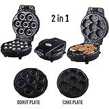 CICIN Waffel-Backformen, Mini-Donut und süße Kuchen-Two-In-One-Electric Maker Kit Set | Kleine Donut Snack...