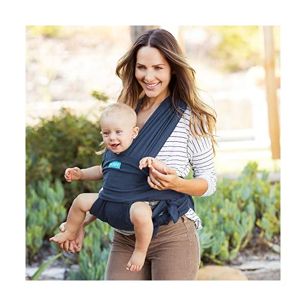 Moby Fit Baby Wrap Carrier In Midnight Blue for Newborn to Toddler Up to 30lbs, Baby Sling from Birth, One Size Fits All, Breathable Stretchy made from 100% Cotton, Unisex Moby One-size-fits-all for babies 8-30 lbs Easy to slip on and adjust for a custom fit Grows with baby, from new-born to toddler 6