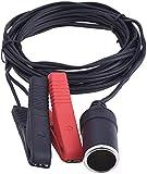 eBoot 12V/ 24V Battery Clip-on Car Cigarette Lighter Socket Adapter 3.6 m/ 12 Feet Extension Cord
