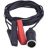 eBoot 12V/ 24V Batería Mechero Toma del Enchufe Encendedor de Cigarrillo Clip del Coche Adaptador del Zócalo 3.6 m/ 12 pies de Cable de Extensión