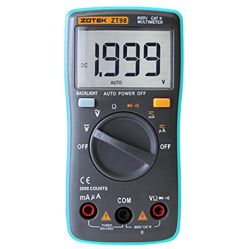 Babysbreath Portable Digital Multimeter Auto Range Strom Spannung Test Großes LCD Display 2000 ZÄHLER