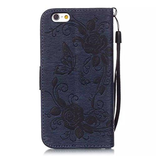 iPhone Case Cover Gemaltes Farbenmuster-Mappenartkasten magnetisches entwerfen Flipfolio PU-Lederabdeckung Standup-Abdeckungsfall für iPhone 6S 6 4.7 Zoll ( Color : Rose , Size : IPhone 6S 6 ) Deongaree