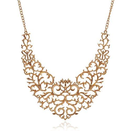 Beauty7 Collier Chaine Pendentif Perle Faux Zircon Croix / Cle Perle / Ciselee / Chat porte Bonheur / Coeur Cristals / Cle Lune / Coeur / Aile / Coeur Aile / Rond Strass / Feur Rose Resine / Cadeaux Long:46+6cm
