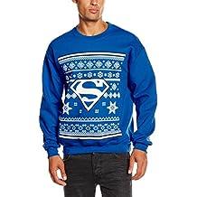 DC Comic Christmas Knit Superman-Sudadera Hombre,