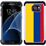 STPlus Drapeau Colombie, colombien Coque Étui Cache Antichoque Rigide + Souple pour Samsung Galaxy S7 Edge