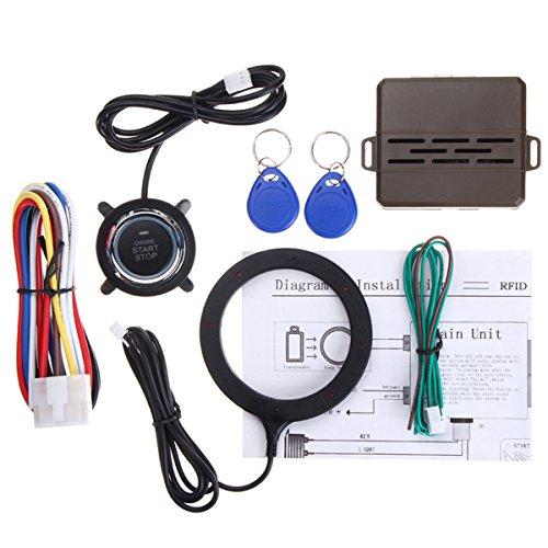 VORCOOL 12V RFID Lock Ignition Car Keyless Entry Push Starter Remote Start System-Kit