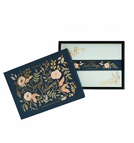 Colette Gold Folie Floral Social Stationery flach Note Karten von Gewehr Papier CO. --Set von 12Karten und Umschläge -