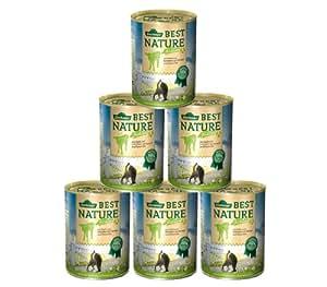 Dehner Best Nature Katzenfutter Adult Frühlingsmenü Kalb und Schinken, 6 x 400 g (2.4 kg)