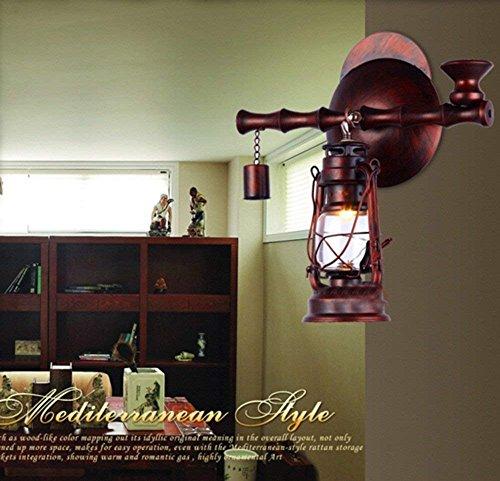 Retrò nostalgia di antiquariato in ferro battuto lampada da parete corsia lanterna luci spia luci di tea cafe bar attrezzatura