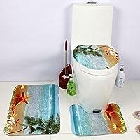 jysport WC Copri stampata impermeabile morbido cuscini WC set di tre Comune caricato, beach