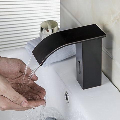 Ouecc Shang Badezimmer Sensor Wasserhahn Warmes Und Kaltes Mixer Automatische Hände Berühren Sich Sensor Wasserhahn Im Waschbecken Im Bad Tippen Sie Auf Mischpult Wasserhahn,