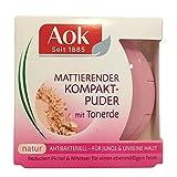Aok First Beauty mattierender Kompaktpuder Puder Farbe: Natur Inhalt: 7g Puder der die Haut mattiert und Pickel incl. Mitesser reduziert mit Tonerde & Vitamin E. Für einen ebenmäßigen Teint antibakteriell.