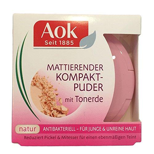 Aok First Beauty mattierender Kompaktpuder Puder Farbe: Natur Inhalt: 7g Puder der die Haut mattiert...