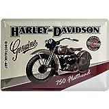 Nostalgic-Art 22137 Harley-Davidson - Flathead, Blechschild 20x30 cm